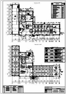 Производственный корпус комбикормового завода. планы этажей, экспликация полов