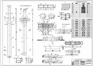 Производственное здание. Колонна железобетонная