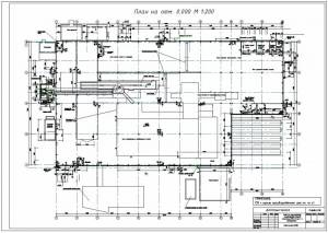 Производственное здание. План здания