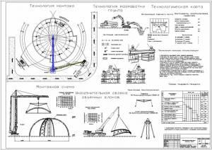 Многофункциональный центр культуры и спорта. Технологическая карта на монтаж полуарок каркаса