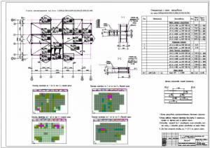 Монолитный жилой дом. Расчетная схема плиты монолитной перекрытия. Армирование плиты перекрытия