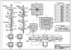Многоэтажная автостоянка (паркинг). Армирование колонн. Армирование капителей колонн.
