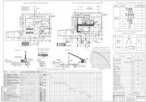 10-этажный жилой дом. Схема производства свайных работ. Устройство монолитного ростверка