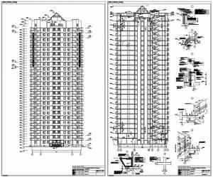 25-этажный монолитный жилой дом. Фасад и разрез здания
