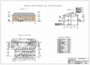 Реконструкция автостанции. Здание автостанции до реконструкции