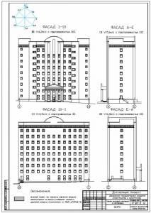 Здание налоговой инспекции. Фасады здания