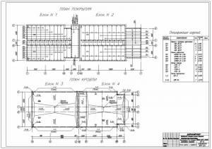 Реконструкция 9-ти этажного малосемейного общежития. План плит покрытия. План кровли