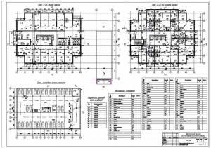 22-этажное многофункциональное здание. Планы этажей. План подвала