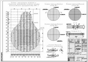 Национальная библиотека. Схема армирования монолитной фундаментной плиты
