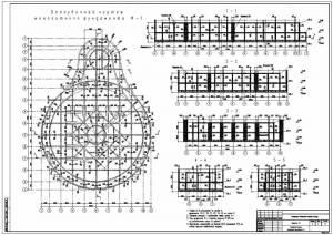 Национальная библиотека. Опалубочный чертеж монолитного фундамента