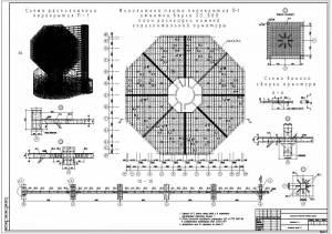 Национальная библиотека. Схема расположения перекрытий. Монолитная плита перекрытия