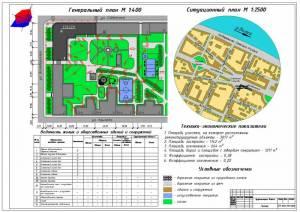 Здание администрации г.Тверь. Генеральный и ситуационный план