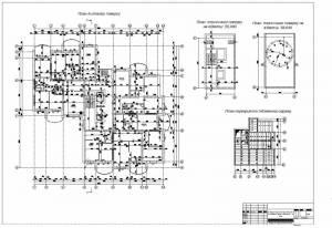 16 поверховий житловий будинок в житловому масиві. План типового этажа, схема плит перекрытия подземного гаража