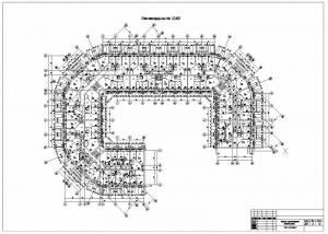Проект многоэтажного жилого дома. План мансардного этажа