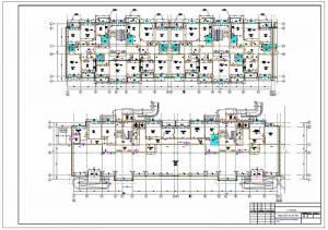 Каркасный жилой дом. План первого и типового этажа
