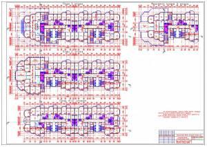 Монолитный 28-ми этажный жилой дом. Планы этажей