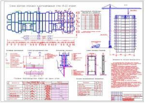Монолитный 28-ми этажный жилой дом. Технологическая карта на бетонные работы