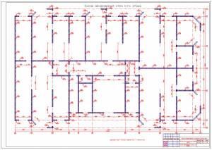 Монолитный 28-ми этажный жилой дом. Схема армирования стен