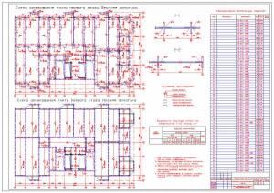 Монолитный 28-ми этажный жилой дом. Схема армирования плиты перекрытия