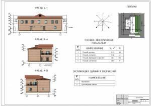 Общественное здание ДХШ им. Д. И. Каратаного. Фасады здания, генплан, ТЭП