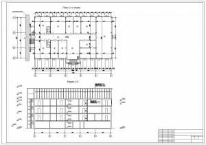 Реконструкция гостиничного комплекса Анзас. План первого этажа, разрез здания