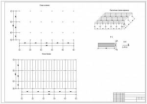 Реконструкция гостиничного комплекса Анзас. План колонн, план балок, расчетная схема