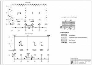 Реконструкция гостиничного комплекса Анзас. Планы свай и ростверков, геологический разрез