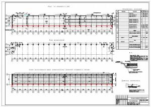 Реконструкция производства N2 ПО Стекловолокно. План на отметке 0.000, схема каркаса здания