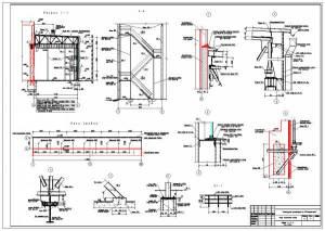 Реконструкция производства N2 ПО Стекловолокно. Разрез здания, узлы и сечения